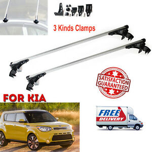 2x Aluminum Car Top Cross Bar Rack Cargo Carrier Fit Kia Forte Optima Soul 06 17