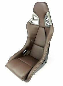Carbon Fiber Leather Brown Seats For Porsche 997 Gt3 Gt2 996 911 White Stiching
