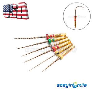 Easyinsmile X3 pro Gold Dental Endo Rotary Niti Files Root Canal Engine 6 Files