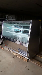 Universal Coolers Stainless Meat Display Case Refrigerated Butcher Counter Deli