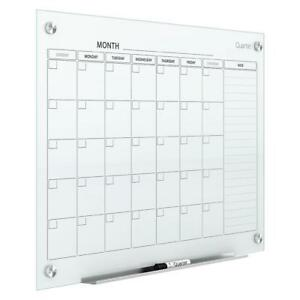Quartet Glass Dry Erase Board Calendar Whiteboard White Magnetic 3 X