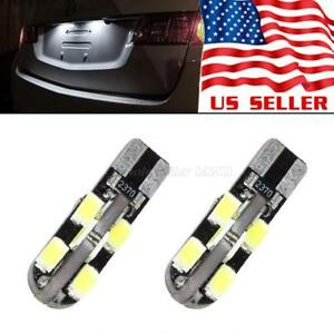 2x Usps White T10 168 194 W5w 12 Smd 5630 Led Light Bulb Canbus Error Free 250lm