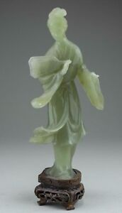 China Chinese Jade Carving Of A Standing Kwan Yin Ca 19 20th Century