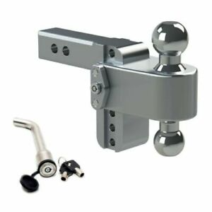 Weigh Safe Ltb4 2 Adjustable 180 Hitch Mount W Keyed alike 3 1 2 X 5 8 Lock