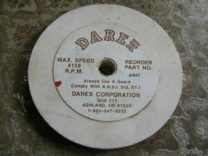 Darex Drill Sharpeners Grinding Wheel Part No 4847 4138 Rpm