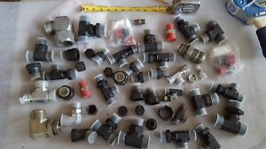 Lot Of Parker Hydraulic Fittings Hose Ends Elbow Lot 1