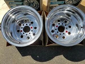Nos Vintage 1990 Cragar Weld Wheels 15 14 Pro Street Hot Rod Drag Racing