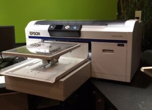 Epson F2000 Direct To Garment Printer used Daily Financing Available