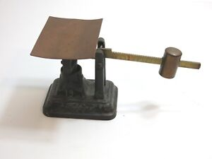 Antique Fairbanks Cast Iron And Copper Brass Balance Slide Scale