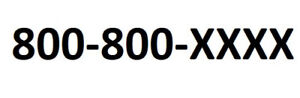 Toll free 800 Phone Number Extremely Rare 800 800 xxxx Phone Number