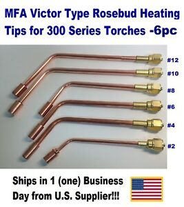 Mfa Heating Nozzle Tips Rosebud For Victor victor type 300 Series 6 pc