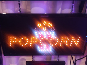 Popcorn led Neon Sign store Sign business Sign window Sign Display