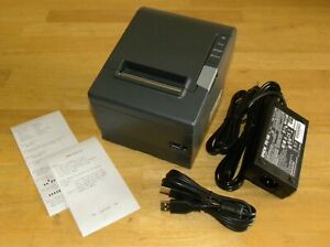 Epson Tm t88v M244a Usb Rs 232 Thermal Pos Receipt Printer W Power Supply