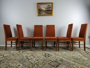 6 High Back Komfort Denmark Danish Modern Rosewood Teak 70 S Dining Chairs