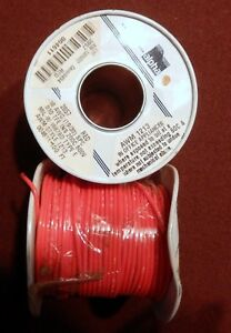 2 100 Rolls 18 Awg Mil spec Wire ptfe Stranded Silver Plated Copper Red