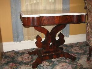 Antique Empire Marble Top Parlor Table Bergen County Nj Rockland County New York