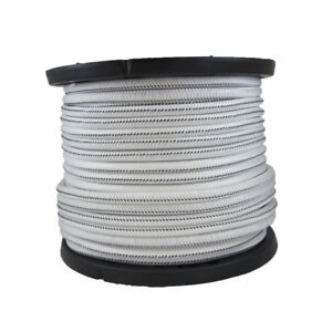 1 4 500 Ft Bungee Shock Cord White With Black Tracer Marine Grade Heavy Duty
