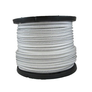 1 4 1000 Ft Bungee Shock Cord White With Black Tracer Marine Grade Heavy Duty