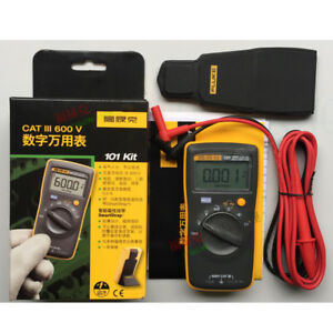 New Fluke 101 Kit Handheld Digital Multimeter F101 Pocket Mini 600v Catiii