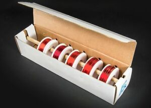 Assorted Gauge Magnet Wire Kit Enamel Coated Copper Wire 5 Spools