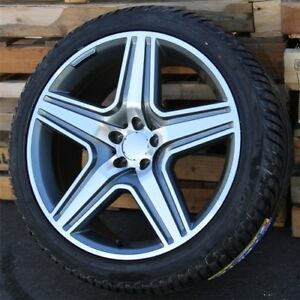 4 Set 21 Inch Wheels Tires Pkg M Benz Ml320 Ml350 Ml55 Ml500 Ml550 Ml63 R350