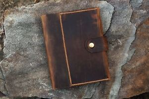 Personalized A5 Leather Notebook Planner Refillable Leather Binder Portfolio