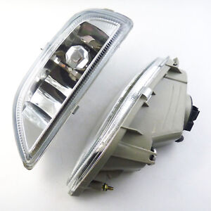 Pair Clear Front Bumper Driving Fog Light For 2001 02 Toyota Corolla 8122002030