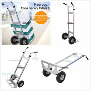 500lbs Hand Truck 2 Wheel Stair Climber Moving Dolly Furniture Utility Cart Us
