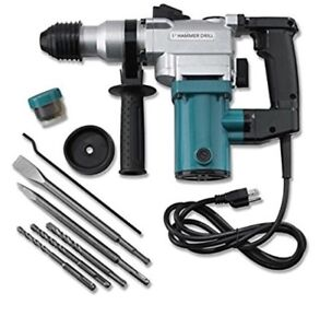 Hiltex 10504 1 Electric Rotary Hammer Drill 4 7 Amp W 2 Chisels