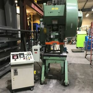 Reconditioned 45 Ton Minster No 5 Obi Power Press with Vamco Servo Feed