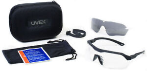 Uvex Xmf Tactical Safety Glasses Kit Black Frame Clear Gray Amber Ds Lenses
