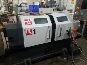 Haas Tl 1 Cnc Toolroom Lathe 2015 350 Spindle Hours Tooling Ips Tailstock