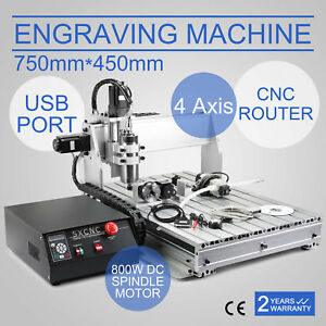 Usb 6040 Cnc Router Engraver Drilling Engraving Carving Machine Ballscrew 4 Axis