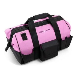 Pink Power 20 Tool Bag For Women With 28 Storage Pockets And Shoulder Strap
