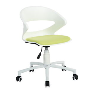 Executive Computer Desk Chair Mid Back Ergonomic Mesh Office Chair Green white