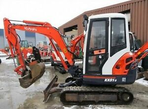 Kubota Excavator Mini Digger Parts Manuals Many Many Models