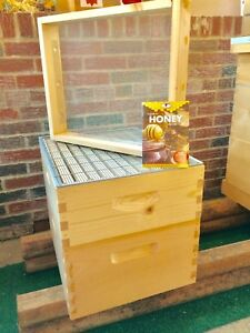 Beehive Upgrade ibrood Box honey Super Queen Excluder hive Attic Assembled