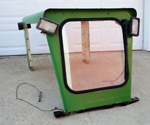 Curtis Cab Compact Tractor John Deere Roof Windshield Metal Glass Vintage Rare