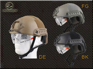 Emerson Fast Helmet Protective Goggle MH Type Airsoft Helmet One Size Black FG
