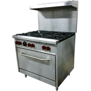 Vulcan Sx36 6b 36 6 Burner Natural Gas Range