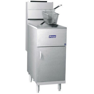 Pitco 40d Tube Fired Gas Floor Fryer 40 45 Lb 115 000 Btu