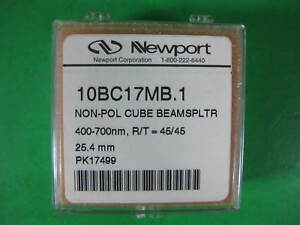 Newport Non pol Cube Beam Splitter 400 7 10bc17mb 1 New