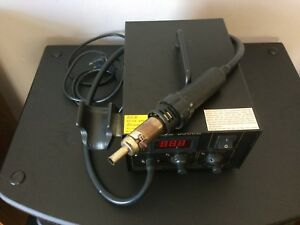 Yihua 8508d Smd Rework Station Soldering Iron Hot Air Compressor Working