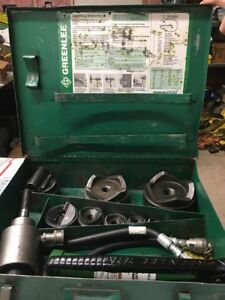 Greenlee 7310sb 4 Hydraulic Slugbuster Knockout 767 Pump 746 Ram 6211