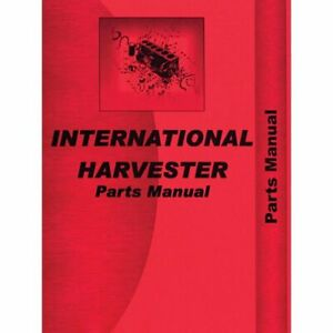 Parts Manual 584 International 584 584