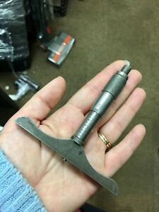Vintage Ls Starrett Co No 440 b Depth Micrometer Gauge Gage