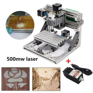 Mini Cnc 1610 500mw Cnc Engraving Machine Pcb Milling Wood Router Diy Kits