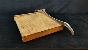 Vintage 15 Guillotine Style Paper Cutter Property Of Us Government