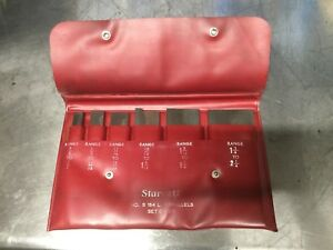 Starrett N0 154 L Set Of Six Adjustable Parallels machinist Tools
