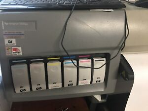 Hp Designjet 5500ps 42 Color Inkjet Printer With 4 Rolls Assorted Printing Roll